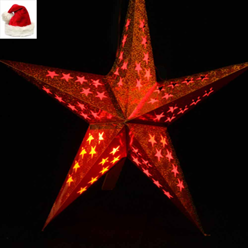Christmas Light Red Star light Big