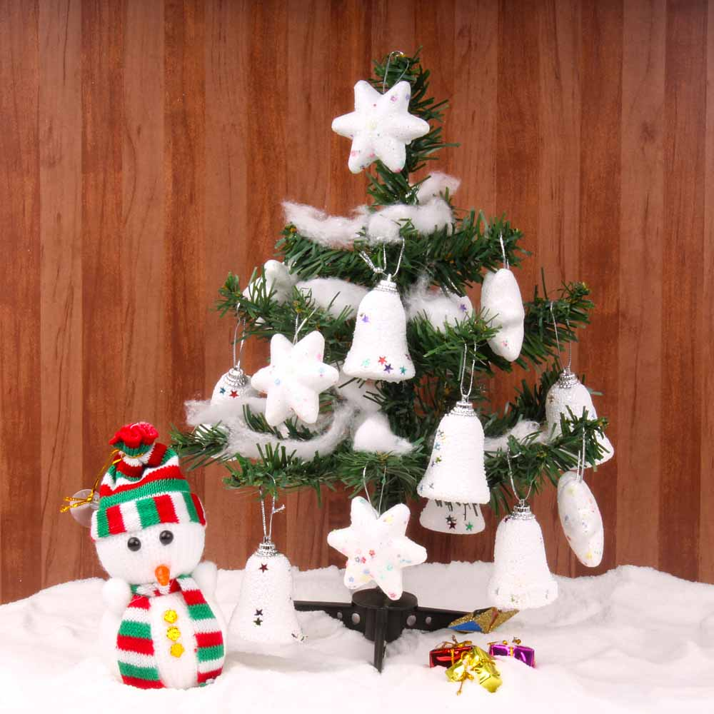 Snowy Christmas Tree with Snowman