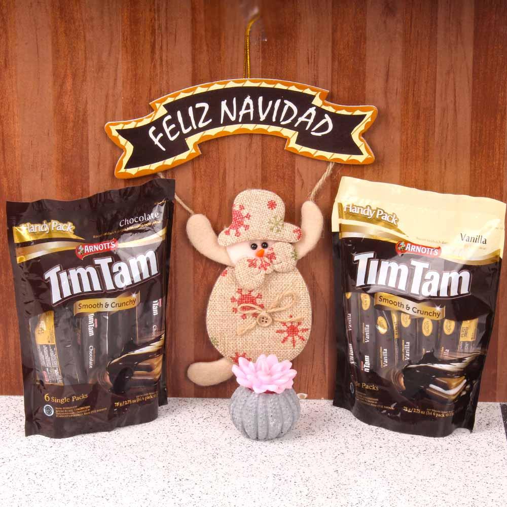 Feliz Navidad with Timtam Chocolates and Candle Combo