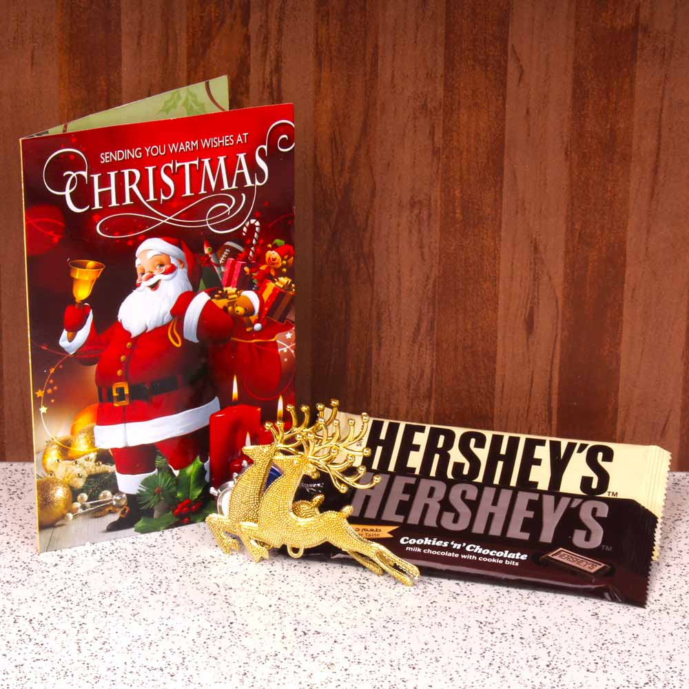 Christmas Hampers-Hersheys Chocolate with Christmas Card