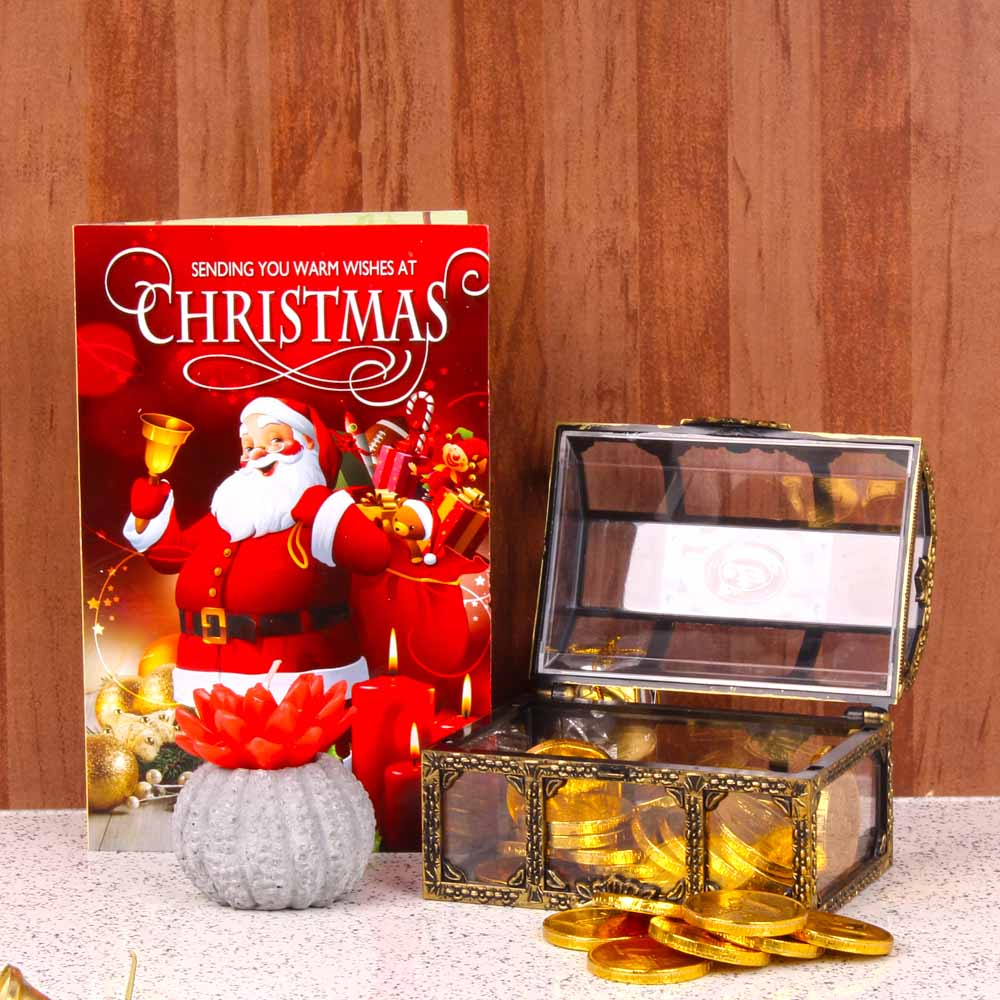 Gold Coin Chocolates Christmas Combo