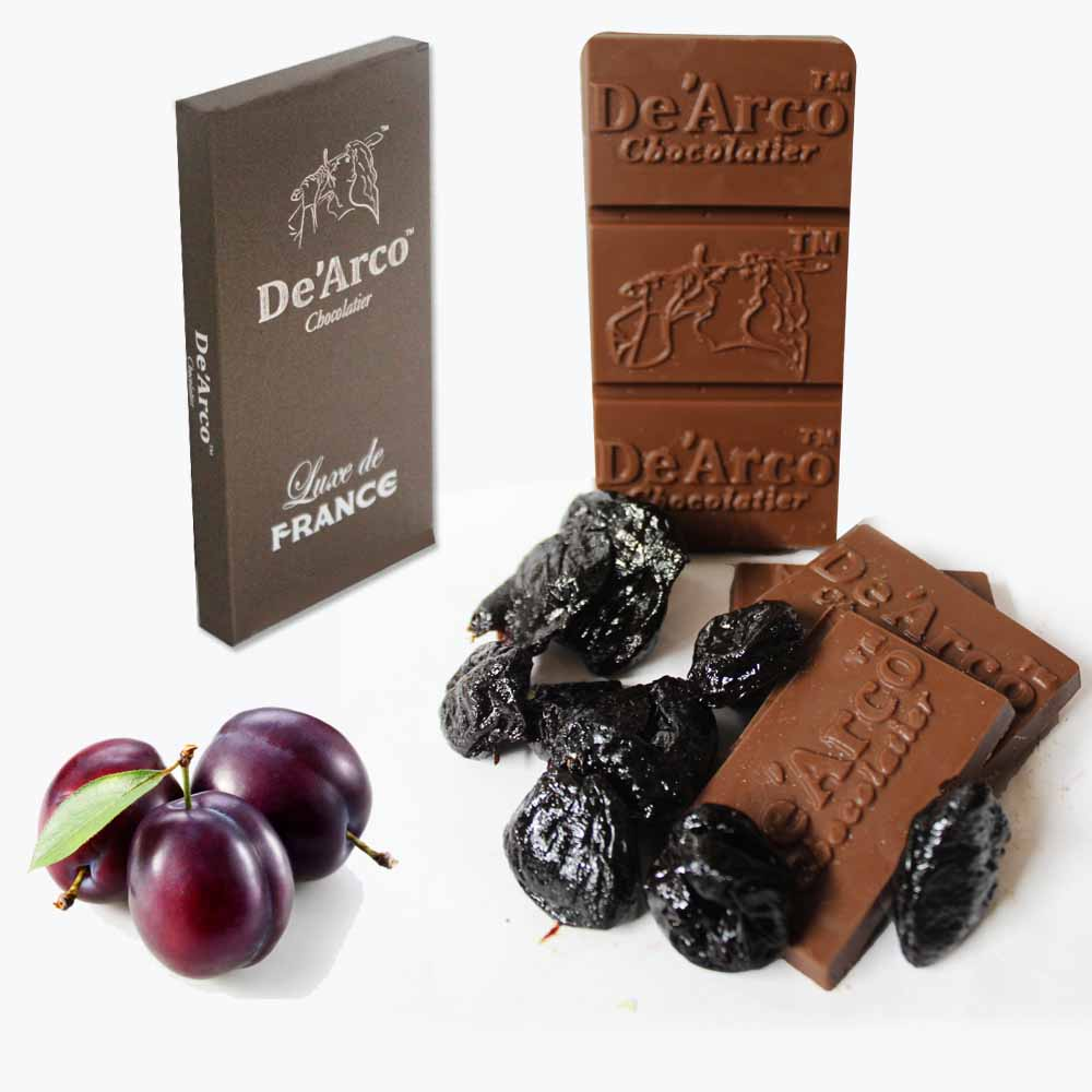 De'Arco Chocolatier 60Bar Superb Prunes 80 g