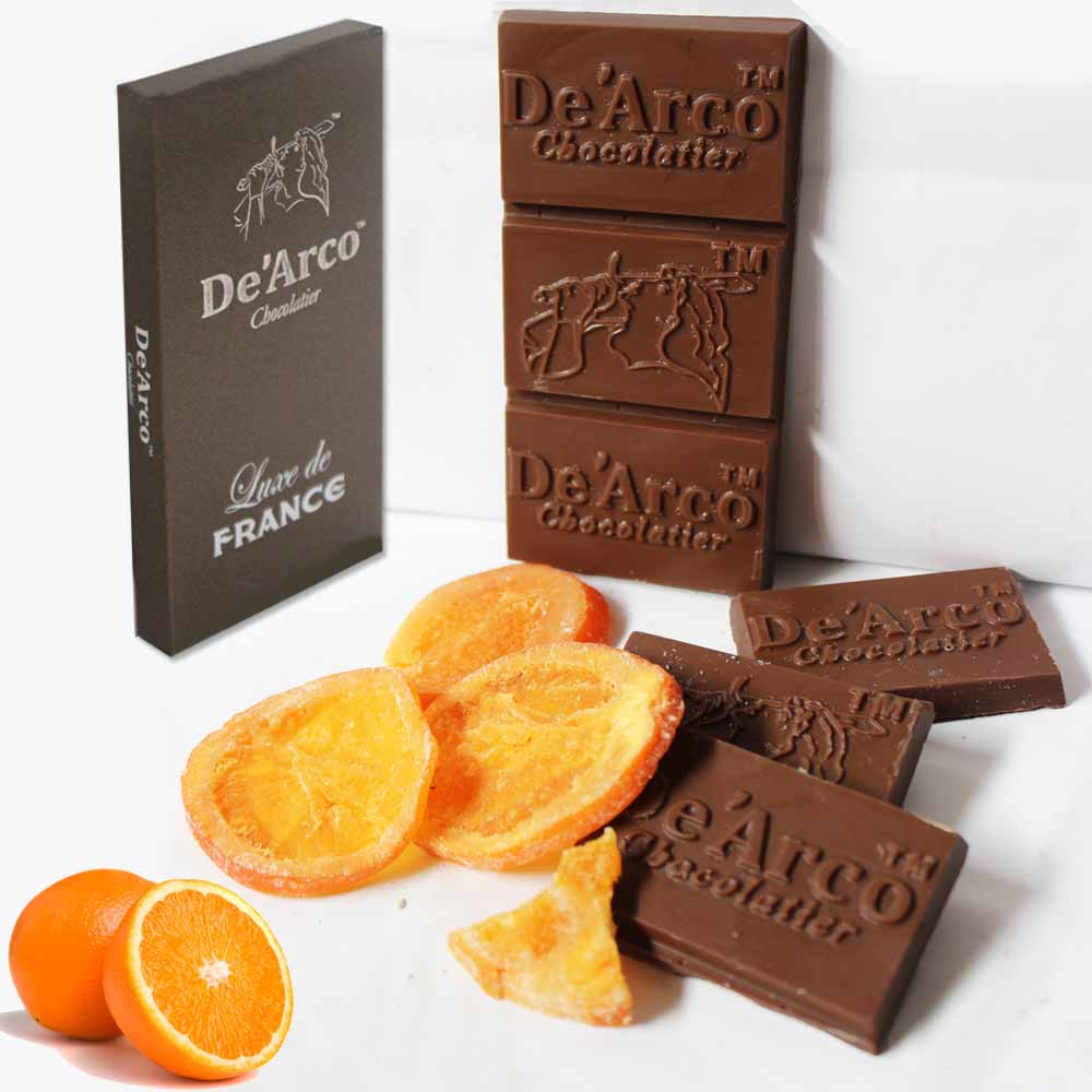 De'Arco Chocolatier 60Bar Delicious Orange 80 g