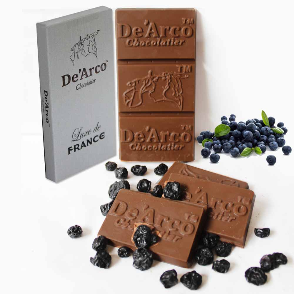 De'Arco Chocolatier 70Bar Luscious Blueberry 80 g