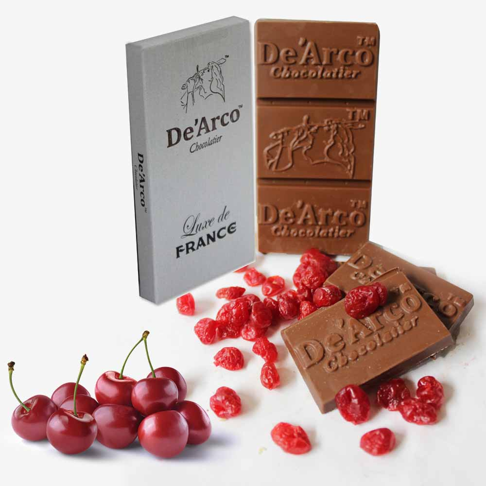 De'Arco Chocolatier 70Bar Lustrous Cherries 80 g