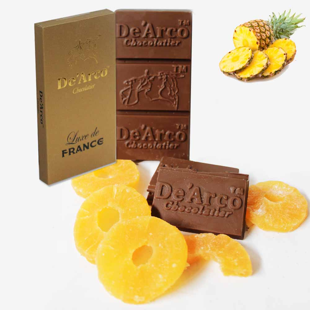 De'Arco Chocolatier 70Bar Pineapple Fiesta 80 g