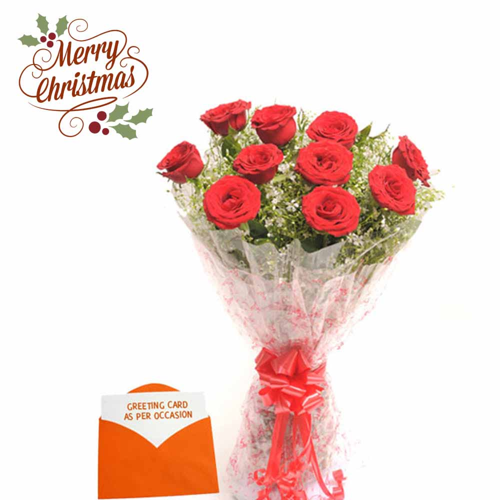Bouquet N Greeting Card-Christmas Gift