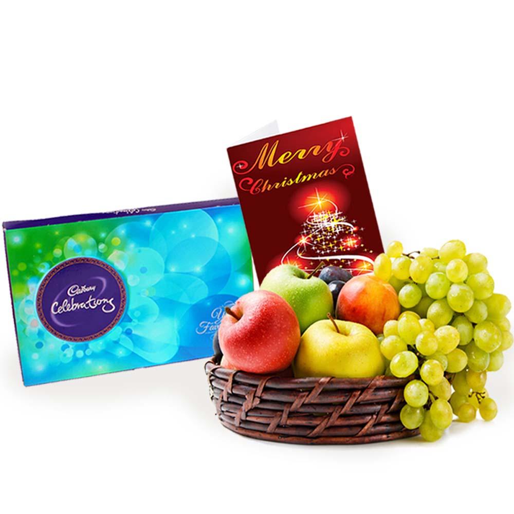 Cadbury Celebrations Chocolate with Fruits and Christmas Card
