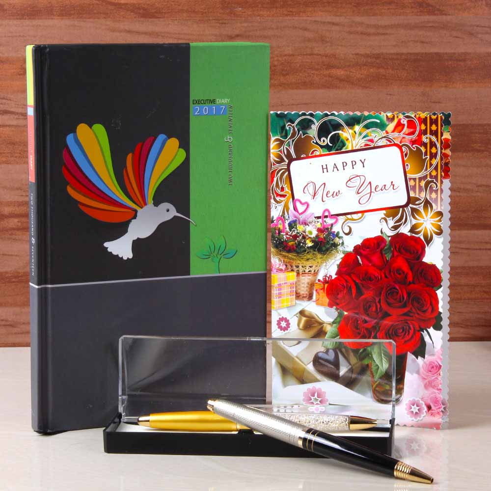 Diary Book with Pen Holder For New Year Gifting