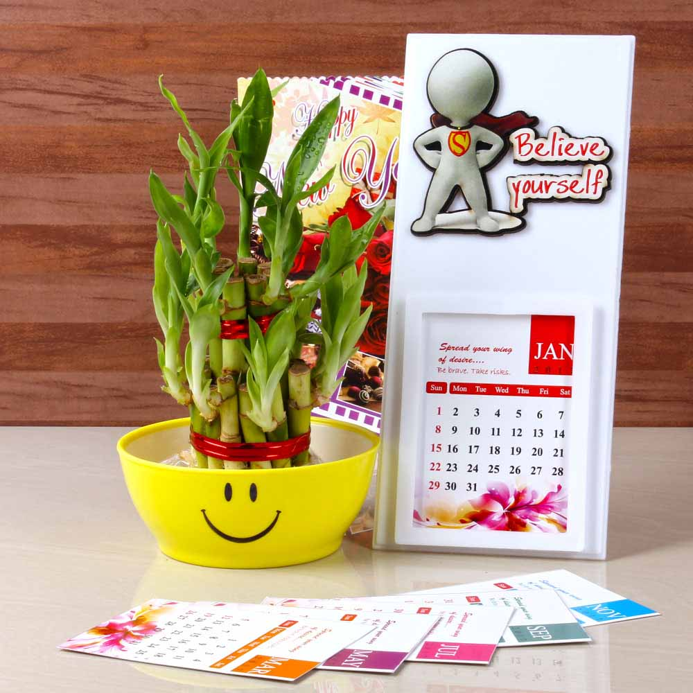 New Year Goodluck Plant with Calendar 2017