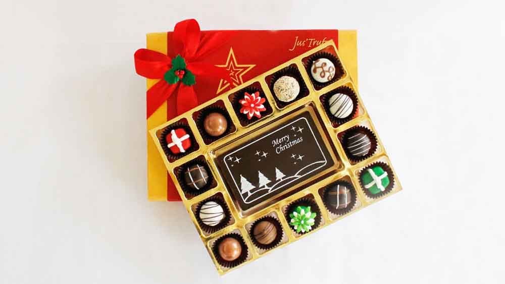 Merry Christmas with Belgian Chocolate Pralines