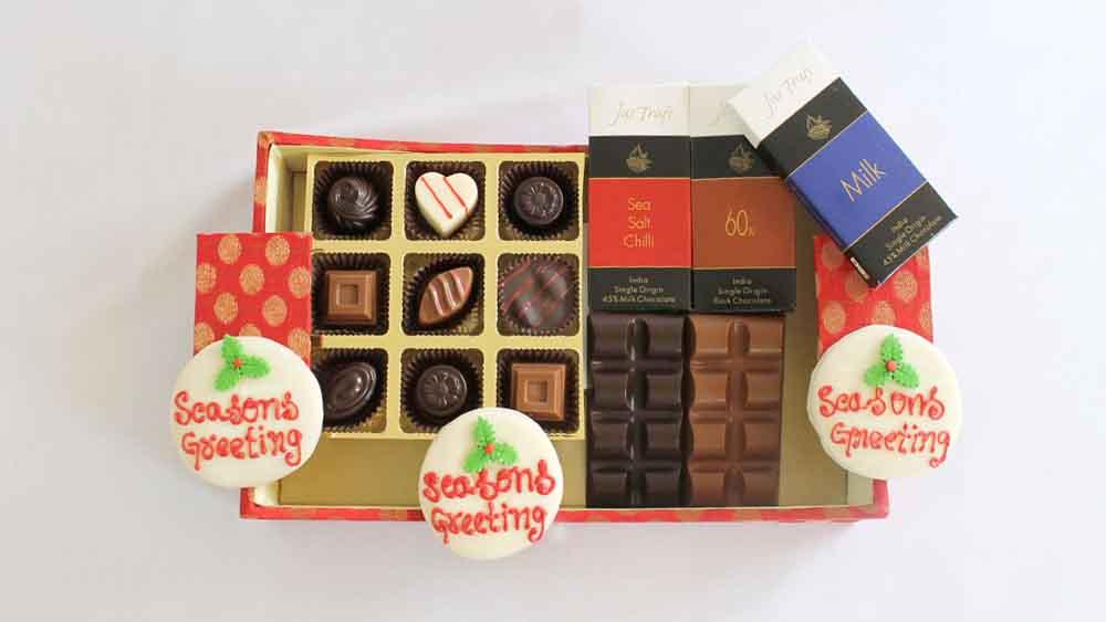 Chocolates & Cookies-Designer Christmas and New Year Chocolate Hamper