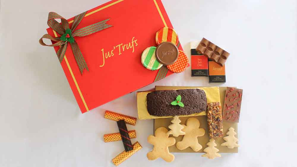 Chocolates & Cookies-Christmas and New Year Artisanal Healthy Chocolate Hamper