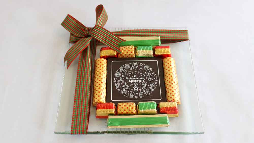 Chocolates & Cookies-Merry Christmas Chocolate Platter