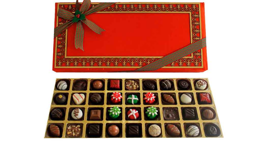 Chocolates & Cookies-Assorted Truffles Christmas Treat