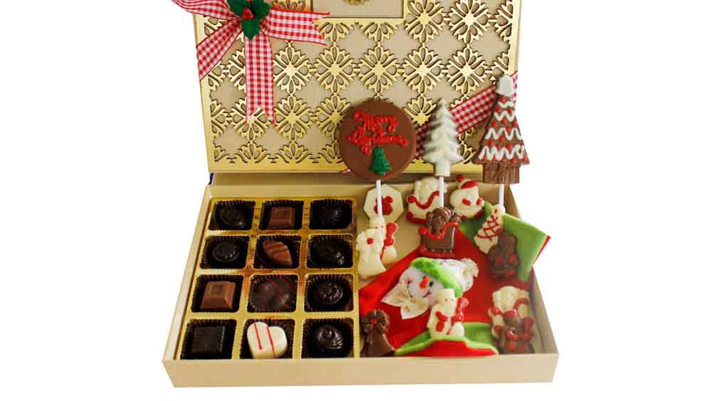 Chocolates & Cookies-Christmas and New Year Chocolates Designer Treat