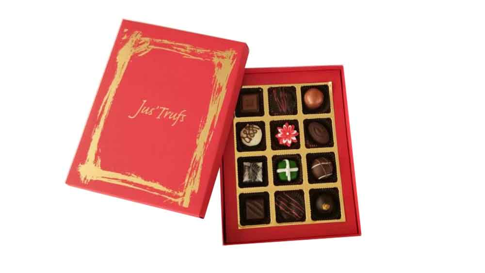 Assorted Chocolate Truffles Christmas and New Year Joy