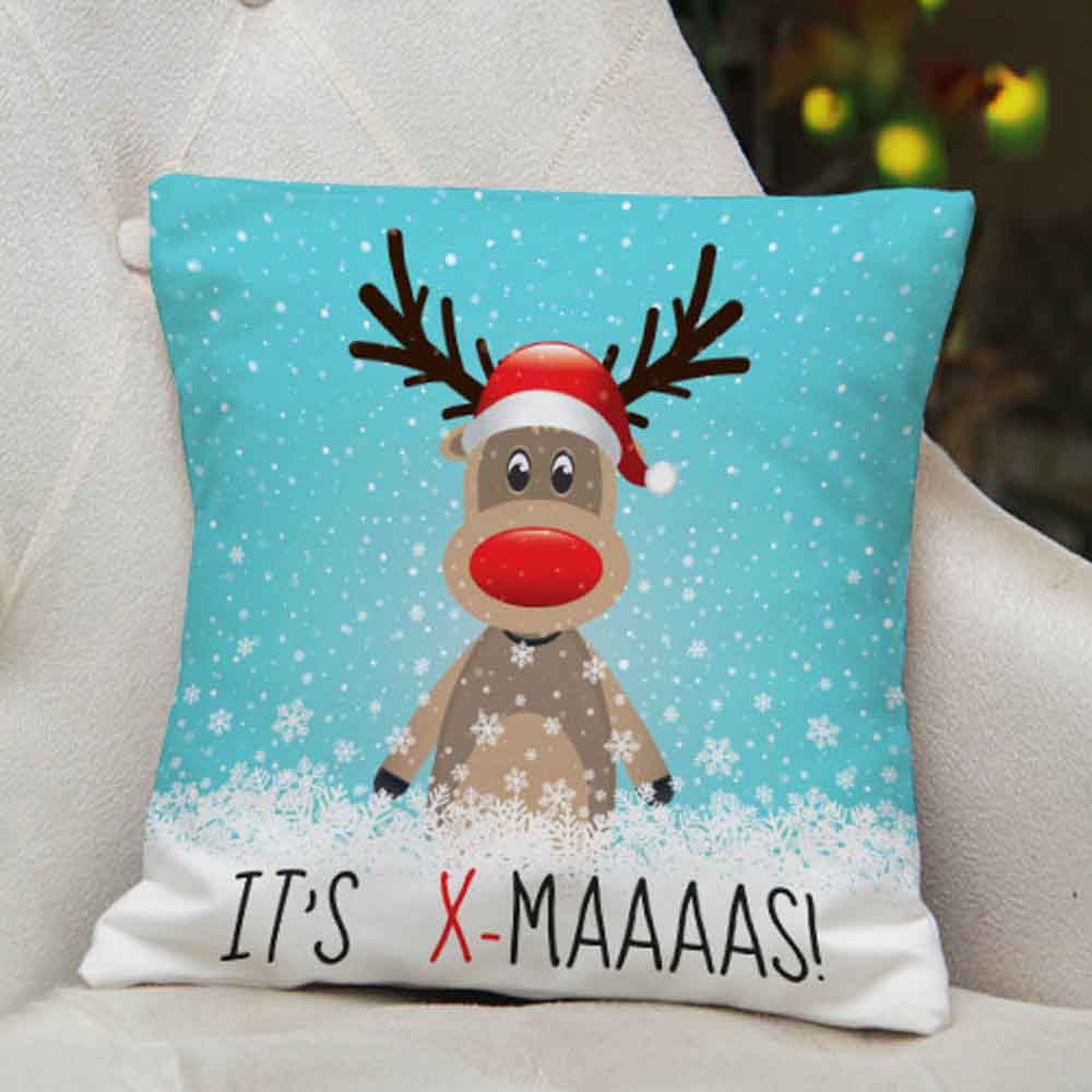 Hilarious Printed Christmas Cushion