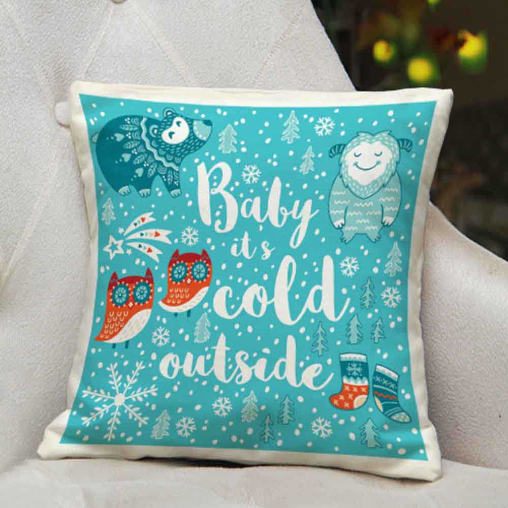 Christmas Decorations-Winter Printed Cushion