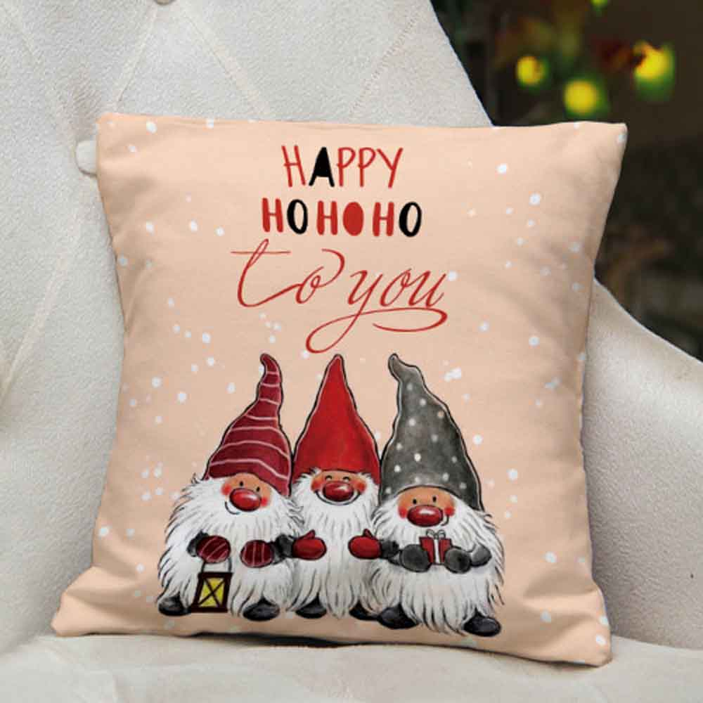 Winter Santa Printed Cushion