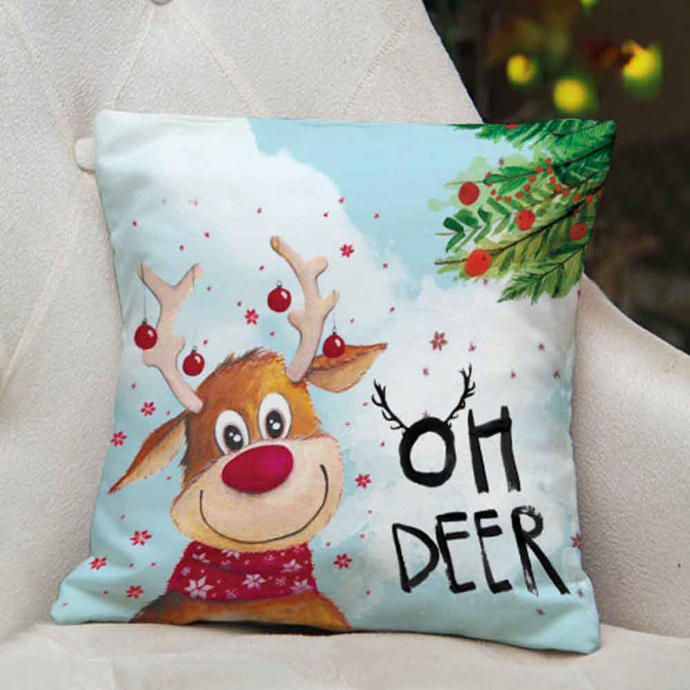 View Merry and Bright Printed Cushion