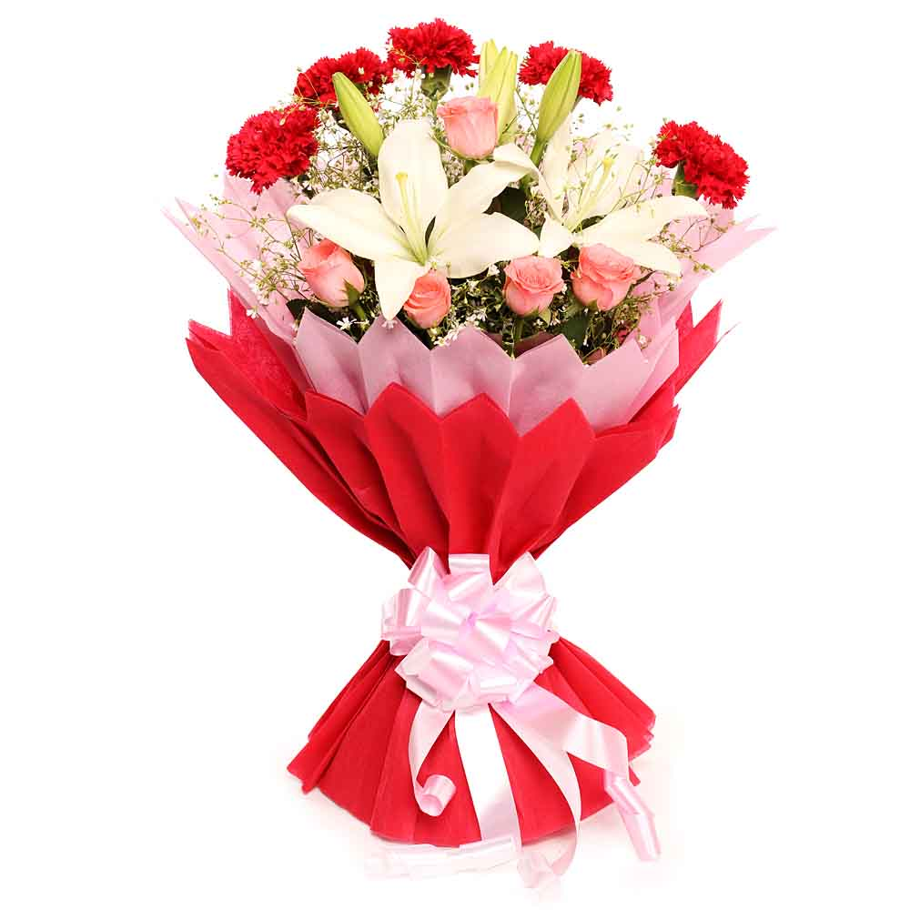 Fresh Flowers-Lovely Blooming Bunch