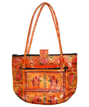 Ethnic Indian Leather Bag