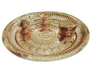 Pooja Thaali-Copper Pooja Thaali